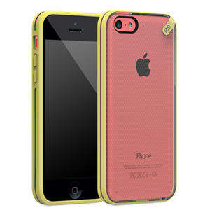 תמונה של Slim Shell iPhone 5C Clear\Yellow Pure Gear