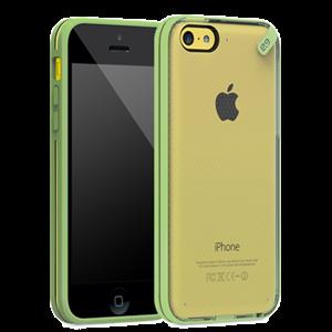 תמונה של Slim Shell iPhone 5C Clear\Green Pure Gear