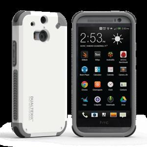 תמונה של DualTek White HTC ONE M8 Pure Gear