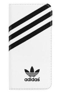 תמונה של Adidas Booklet Case for Apple iPhone 6 Plus - White/Black אדידס