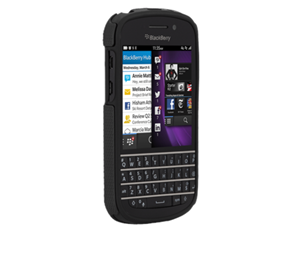 תמונה של Case-Mate Tough BlackBerry Q10 - Black/Black Case mate